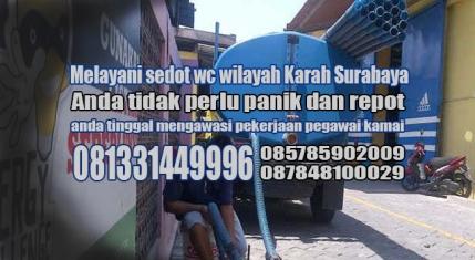 Layanan sedot wc Karah Surabaya